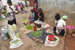 Street vender in Madagascar royalty free stock photo