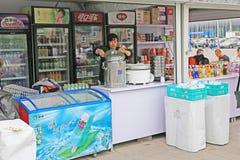 Street vending stalls Stock Image