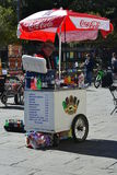 Street Vendor. A street vendor in New Orleans on the French quarters Stock Photos