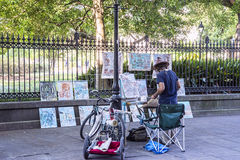 Street vendor art Royalty Free Stock Image