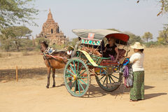 Street vendor in Bagan archaeological site, Myanmar Royalty Free Stock Photos