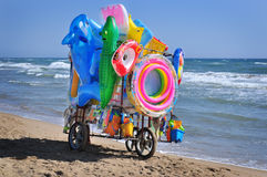 Street vendor on the beach Royalty Free Stock Photography