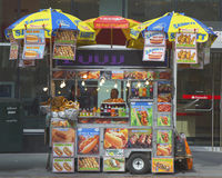 Street vendor cart in Manhattan Stock Photo