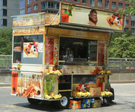 Street vendor cart in Manhattan Royalty Free Stock Photo