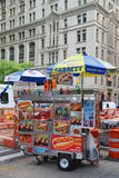 Street vendor cart in Manhattan Stock Images