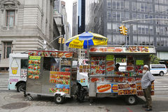 Street vendor cart in Manhattan Royalty Free Stock Photo