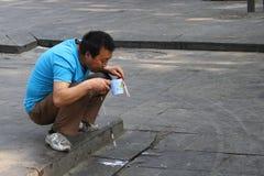 Street vendor China stock photo