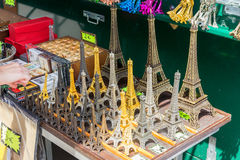 Street vendor eiffel tower Royalty Free Stock Photography