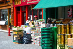 Street vendor entrepreneur's Royalty Free Stock Image