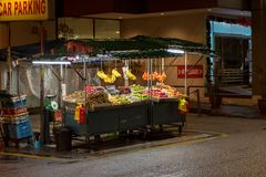 Street Vendor Fruit Stall Stock Photography