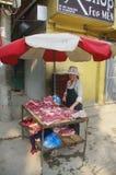 Street vendor in Hanoi royalty free stock photography