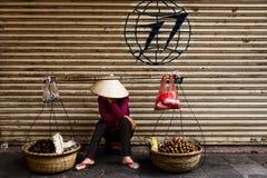 Street vendor in Hanoi. Vietnam Stock Photo