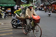 Street vendor in Hanoi, Vietnam Stock Image