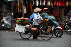 Street vendor in Hanoi, Vietnam Stock Photography