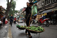 Street vendor in Hanoi, Vietnam Stock Photos