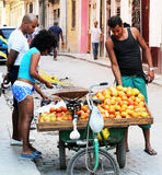 Street Vendor in Havana Royalty Free Stock Image