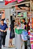 Street Vendor in Hong Kong Royalty Free Stock Images