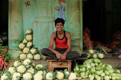 Street vendor of India Stock Images