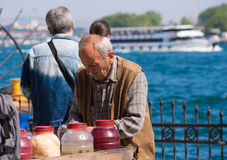 Street vendor in istanbul Royalty Free Stock Photos