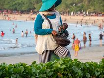 Street vendor at Kuta beach Bali stock photography