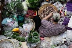 Street vendor at market. stock photos