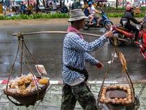 Street Vendor at  Patong Beach Royalty Free Stock Photography