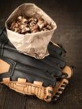 Street Vendor Roasted Sweet Nuts stock image