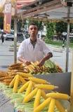 Street Vendor Selling Corn. Istanbul Royalty Free Stock Photos