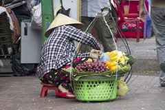A street vendor selling fruit Stock Photos