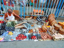 A street vendor selling household tools Royalty Free Stock Image