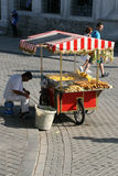 Street vendor selling mais.Istanbul Stock Photography