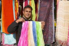 Street Vendor selling scarves, Paris, France Stock Images