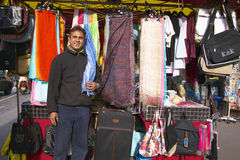 Street Vendor selling scarves, Paris, France Royalty Free Stock Photo