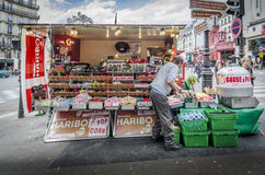 Street Vendor Selling Sweets Stock Photography