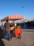 Street vendor sells Simit bread, Istanbul Stock Image