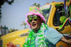 Street vendor at St. Patrick's Day Parade. SAN DIEGO, CA, USA – MARCH 16, 2013: Street vendor at St. Patrick's Day Parade and Festival on March 16, 2013 San Stock Photography
