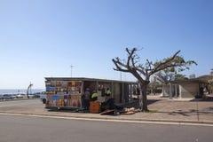 Street Vendor Stall on Durban Beachfont Stock Images