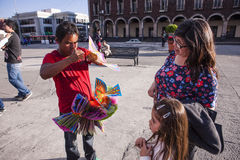 Street vendor in Toluca stock photos