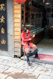 Street Vendor Woman Stock Image