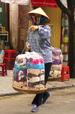 Street vendor woman in Hanoi Stock Photo