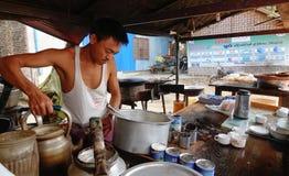 The street vendor in Yangon, Myanmar Stock Photography