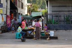 The street vendor in Yangon, Myanmar Stock Image