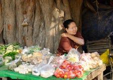 The street vendor in Yangon, Myanmar Royalty Free Stock Photo