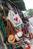 Street vendors in baliselling their wares for the tourists royalty free stock photography