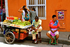 Street Vendors, Cartagena, Colombia Stock Photography