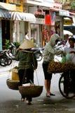 Street vendors Hanoi. Busy street vendors Hanoi Vietnam Stock Photo