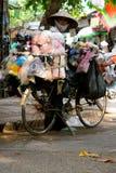 Street vendors Hanoi. Busy street vendors Hanoi Vietnam Royalty Free Stock Photos