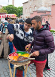Street vendors in istanbul Stock Photo