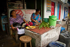 Street vendors of Malang, Indonesia Royalty Free Stock Image
