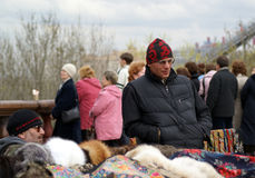Street vendors in Moscow Royalty Free Stock Photos